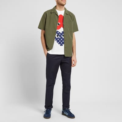 Comme des Garcons Play Polka Dot Mix Heart Tee