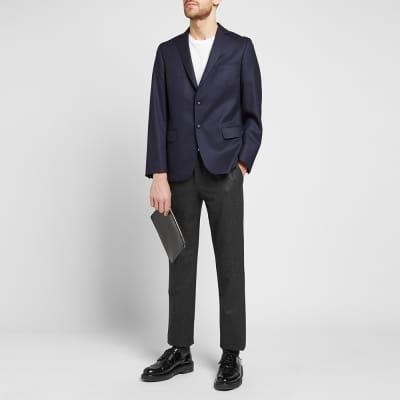 Incotex Drawstring Elasticated Waist Slim Fit Wool Trouser