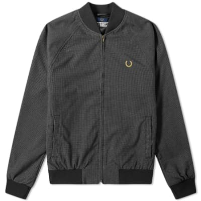Fred Perry x Miles Kane Houndstooth Bomber Jacket