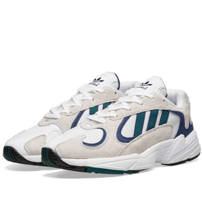 online store 4b161 21e1c Adidas Yung 1 White, Noble Green  Blue