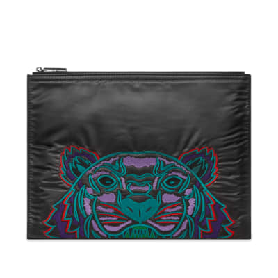 Kenzo Nylon Tiger Embroidered Pouch
