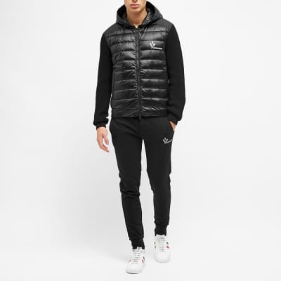 Moncler Down Knitted Hood Cardigan