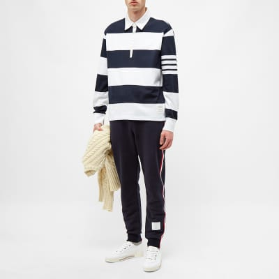 Thom Browne Tricolour Stripe Sweat Pant
