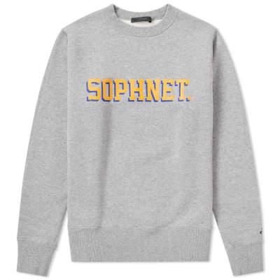 SOPHNET. Logo Crew Sweat