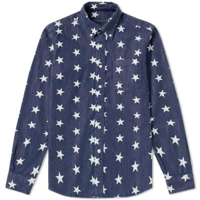 SOPHNET. Star Denim B.D Shirt