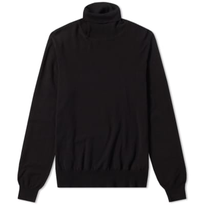 Maison Margiela 14 Cut Out Elbow Patch Turtle Neck Knit