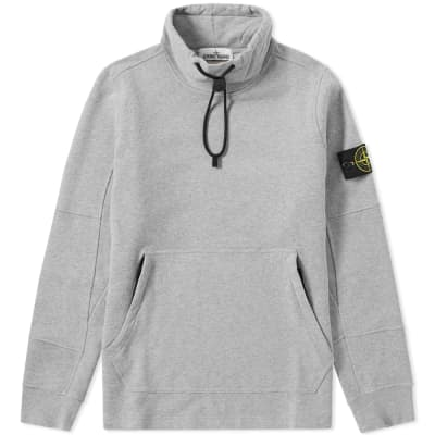 Stone Island Garment Dyed Funnel Neck Popover Sweat