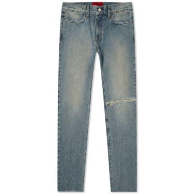 424 Distressed Straight Leg Jean