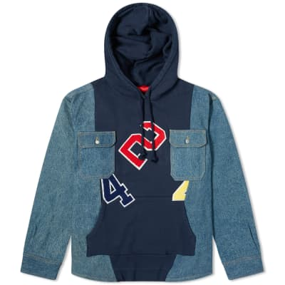 424 Reworked Denim Hooded Workshirt