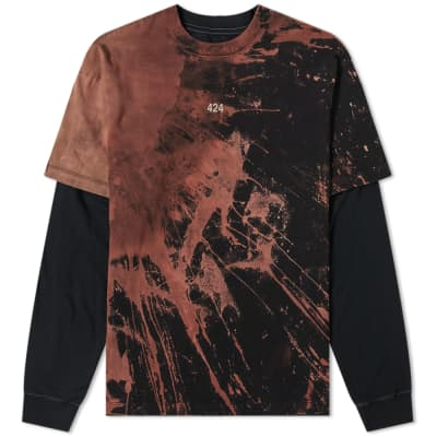 424 Reworked Double Layer Bleached Tee