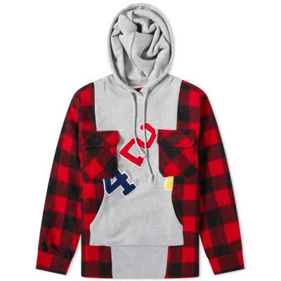 424 Reworked Flannel Hooded Workshirt
