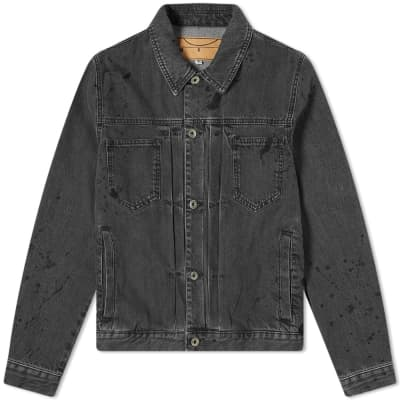 McQ Alexander McQueen Pleated Denim Jacket