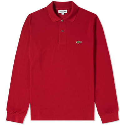 Lacoste Long Sleeve Classic Pique Polo ... db31df178ec8