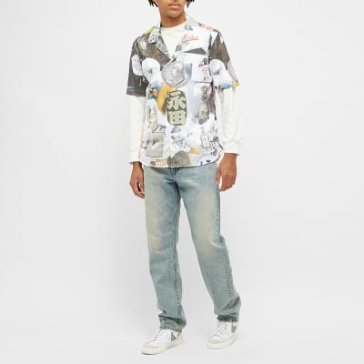Soulland x Numbers Collage Vacation Button Up Shirt