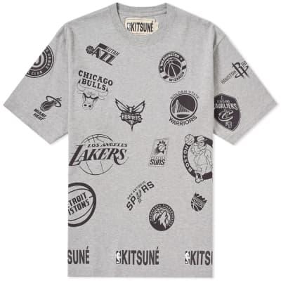 Maison Kitsuné x NBA Allover Print Tee