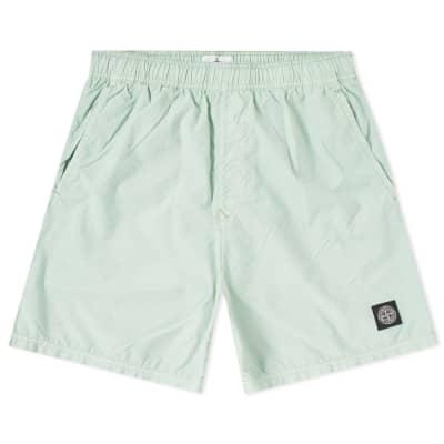 Stone Island Brushed Nylon Patch Logo Swim Short