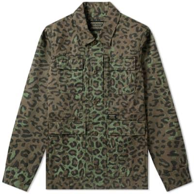 6a5d7f7bd91 Maharishi Leopard Camo Chore Jacket ...