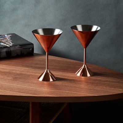 Tom Dixon Plum Martini Glass