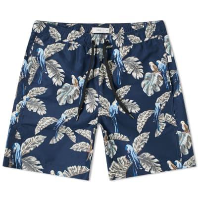 "Onia Charles 7"" Jungle Parrot Swim Short"