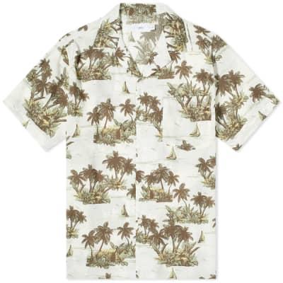 Onia Hawaiian Landscape Vacation Shirt
