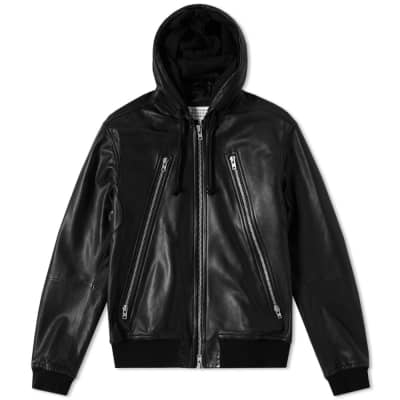Maison Margiela 10 3 Zip Leather Hoody
