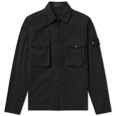 Stone Island Ghost Resin Cotton Zip Overshirt ... c80de4efe