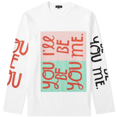 7137a22a7c Comme des Garcons Homme Plus Long Sleeve Be Yourself Tee ...