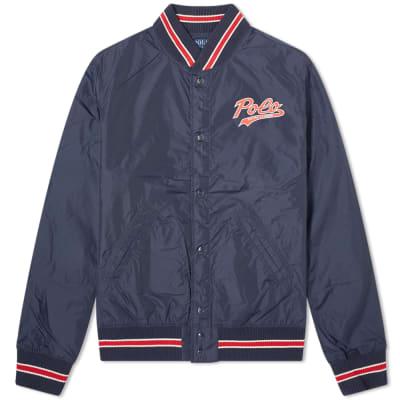 7cf0999fe429 Polo Ralph Lauren Nylon Popover P Varsity Jacket ...