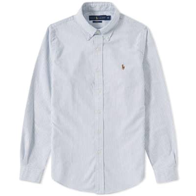 Polo Ralph Lauren Slim Fit Button Down Stripe Oxford Shirt ...