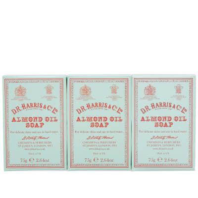 D.R. Harris & Co. Almond Oil Hand Soap - Box of Three