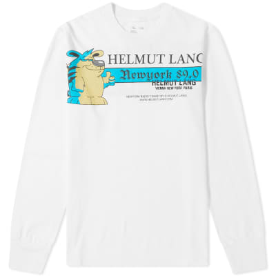 Helmut Lang Long Sleeve Embroidered Logo Tee