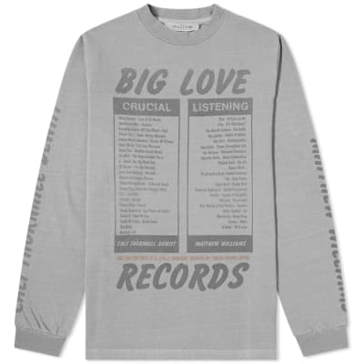 1017 ALYX 9SM x Big Love Records Long Sleeve Tee