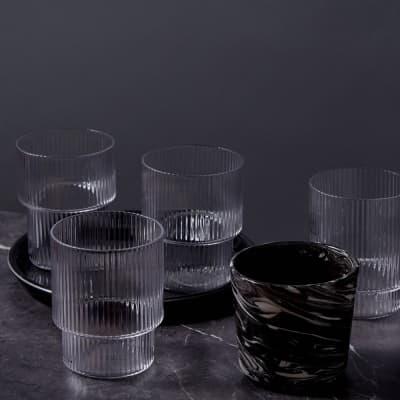 Ferm Living Ripple Glass - Set of 4