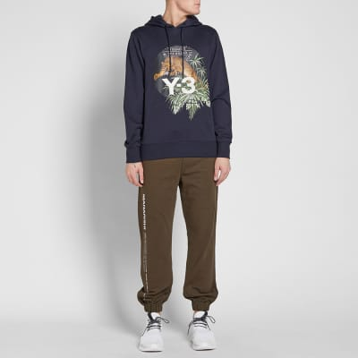 Y-3 Embroidered Leopard Popover Hoody