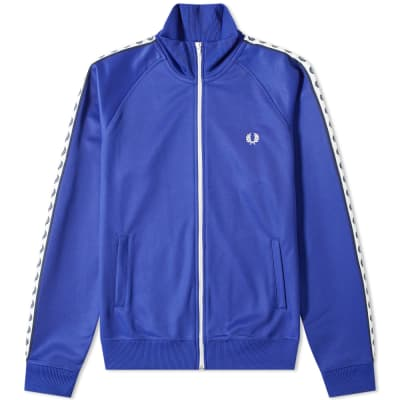 c115dc58a1d Fred Perry Authentic Taped Track Jacket ...