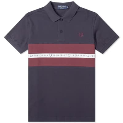 a6a0d19f12 Fred Perry Taped Panel Polo ...
