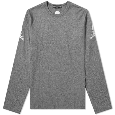 MASTERMIND WORLD Long Sleeve Skull Embroidered Arm Tee