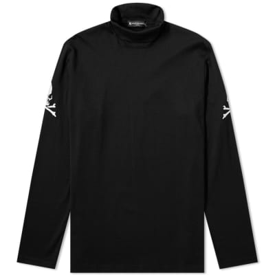 MASTERMIND WORLD Long Sleeve Skull Embroidered Turtleneck