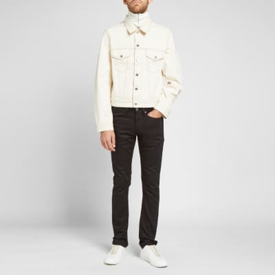 Helmut Lang Masc Trucket Embroidered Logo Denim Jacket
