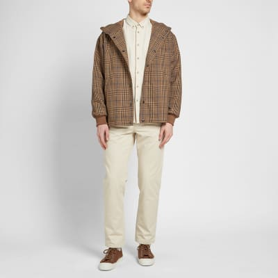 Arpenteur Checked Flannel Hooded Solo Parka