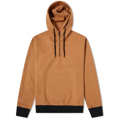 SOPHNET. Melton Fleece Hoody