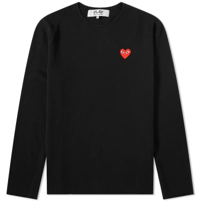 2e9fa6bcb9170a Comme des Garcons Play Knitted Crew Sweat ...