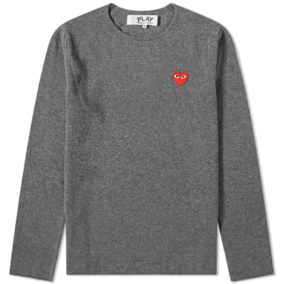 2399561fc910e1 Comme des Garcons Play Knitted Crew Sweat ...