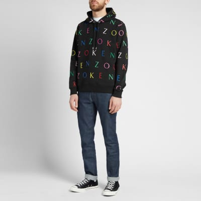 c186108075a5 Exclusive Kenzo All Over Letter Print Hoody - END. Exclusive