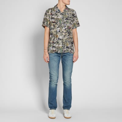 ... Lanvin Short Sleeve Alpine Print Vacation Shirt a3eb6f352