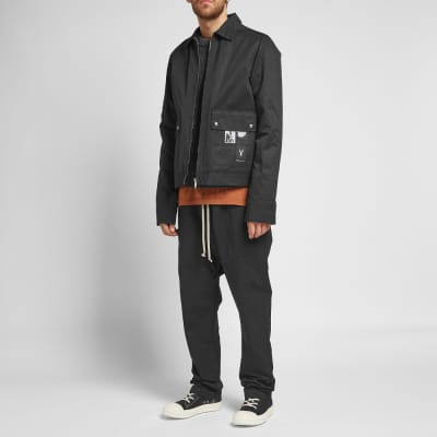 Rick Owens DRKSHDW Patch Print Zip Jacket