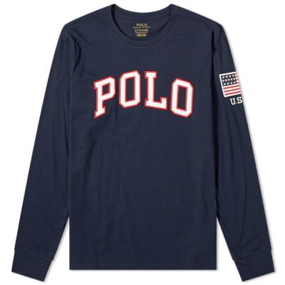 9e6290c244f40 Polo Ralph Lauren Long Sleeve USA Logo Tee ...