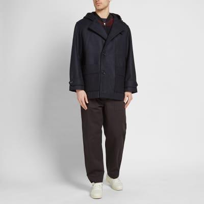 Arpenteur Wool Melton Kabig Coat