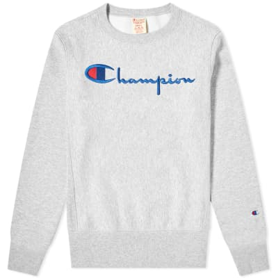 895250fb6cf4 Champion Reverse Weave Script Logo Crew Sweat ...