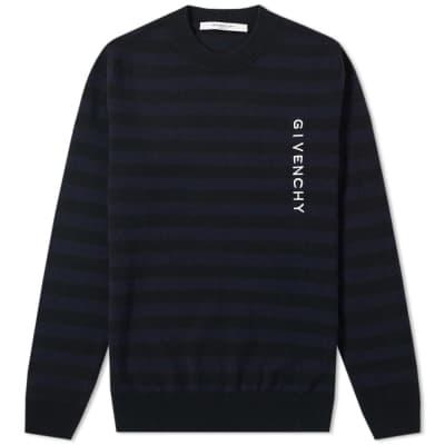 Givenchy Stripe Logo Crew Knit